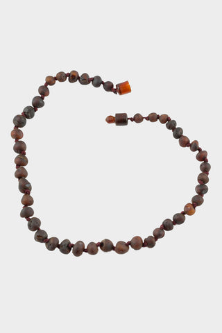Raw Cherry Baltic Amber Necklace