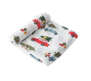 Holiday Haul Muslin Swaddle Blanket