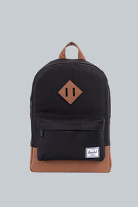 Heritage Backpack- Black/Saddle Brown