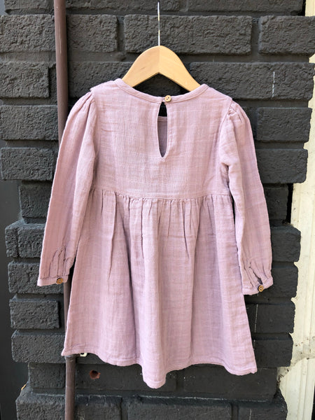Pink Side Button Dress (Kid)