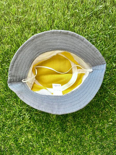 Fisherman Bucket Hat Yellow  12-24 months
