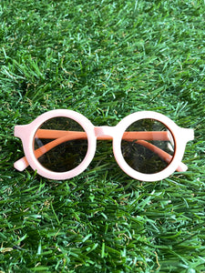 Peach Round Sunglasses (4-8 years)