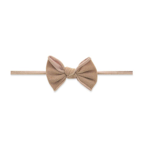 Mini Shimmer Skinny Headband Rose Gold