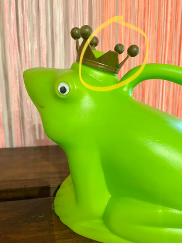 AS IS Frog Prince Watering Can