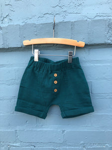 Pine Crinkle Cotton Baby Boy Short