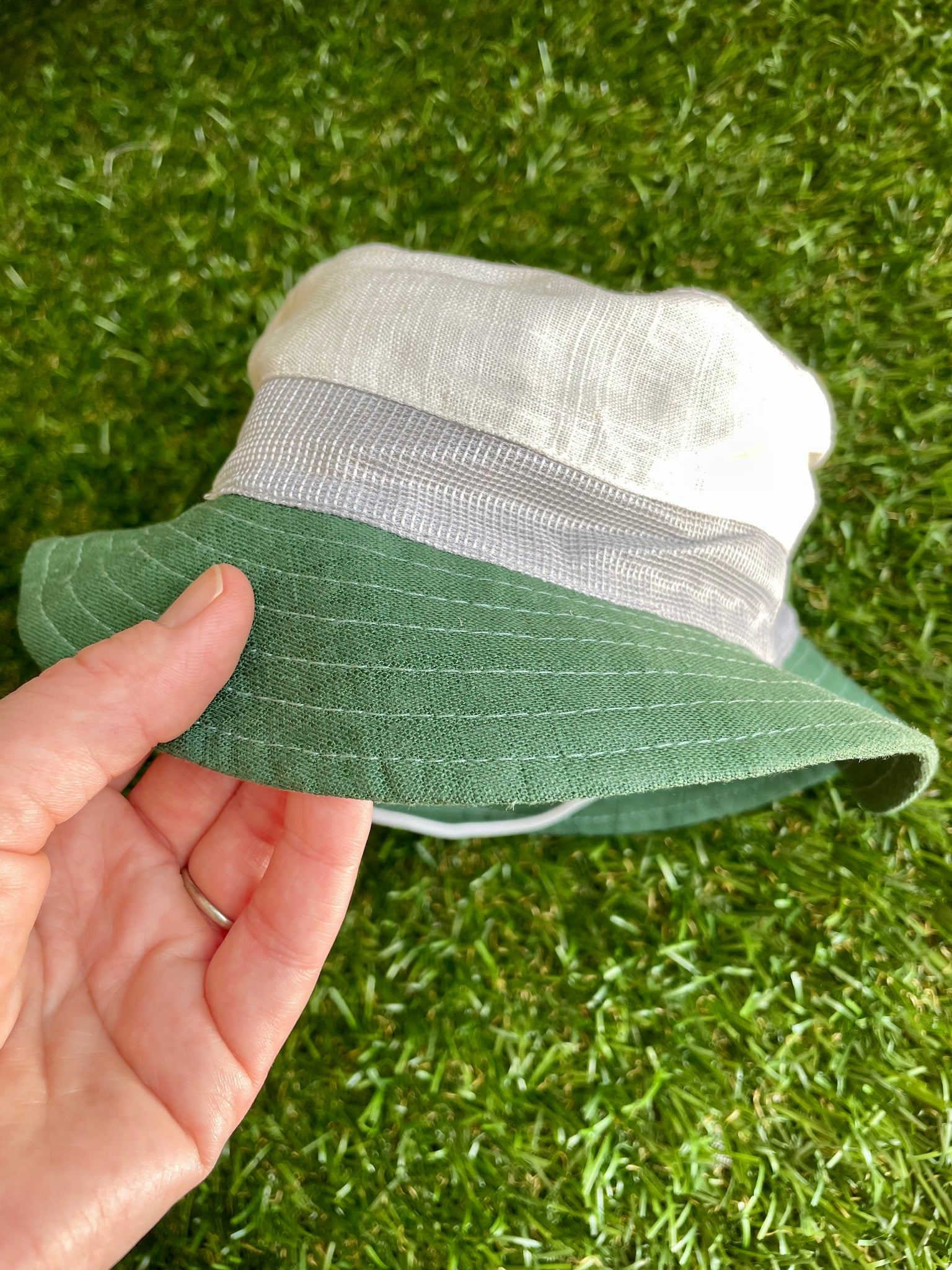 Fisherman Bucket Hat Green 12-24 months