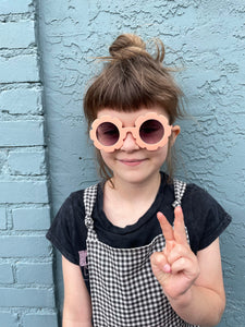 Peach Daisy Sunglasses (4-8 years)