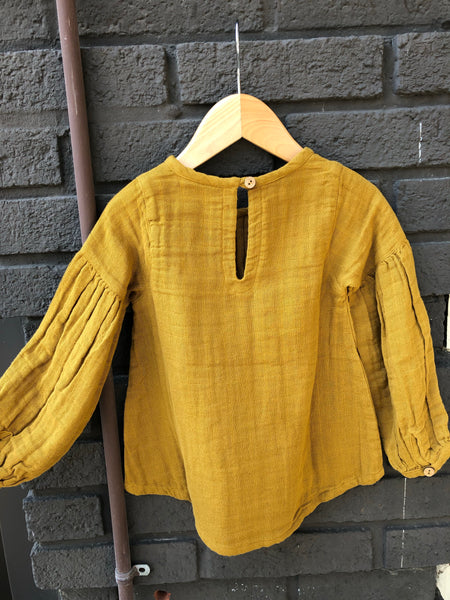 Rust Balloon Sleeve Tunic (Kid)