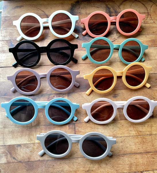 Retro Round Sunglasses Petal 4-8 years