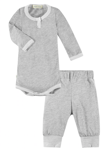 AS IS Harmony Gray L/S Bodysuit & Track Pant Set  9-12 months