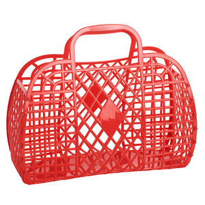 Large Retro Basket- Red