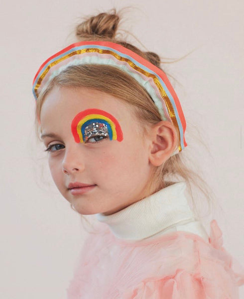 Rainbow Ruffle Headband