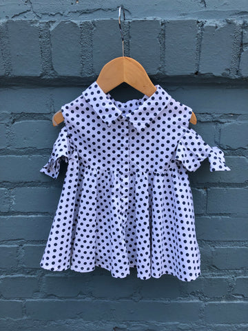 Bow Sleeve Polka Dot Blouse