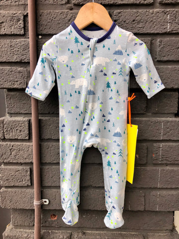Mountain Bears Zipper Footed Romper