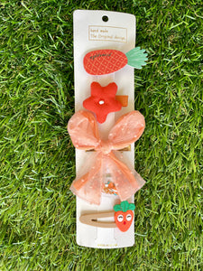 Summer Fruit Hair Clip Set