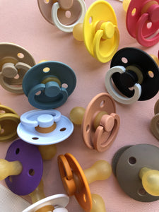 Natural Rubber Pacifier 2 Pack (0-6 months)