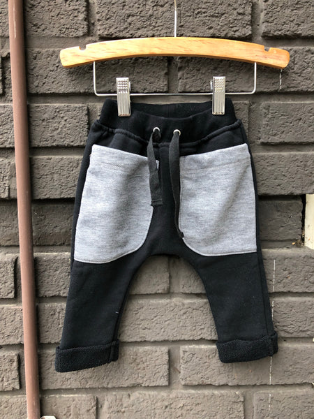 Contrast Pocket Terry Baby Pant