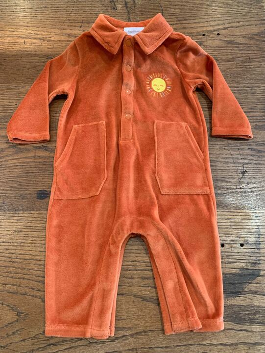 Velour Jumpsuit Rust