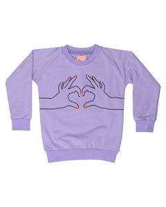 Purple Love Sweatshirt Baby