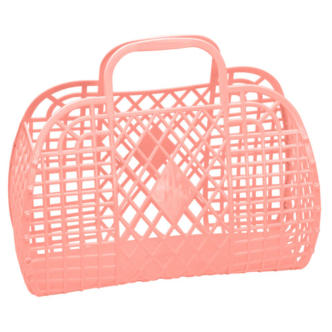 Large Retro Basket- Peach