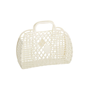 Small Retro Basket- Cream