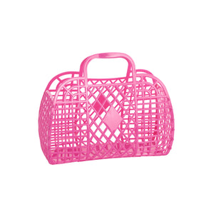 Small Retro Basket- Hot Pink