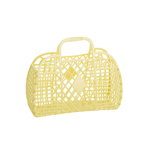 Small Retro Basket-Yellow