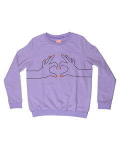 Purple Love Sweatshirt Kid