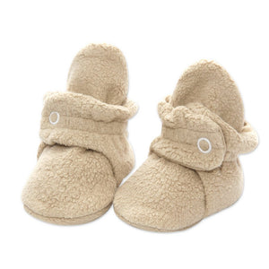 Khaki Cozie Fleece Bootie