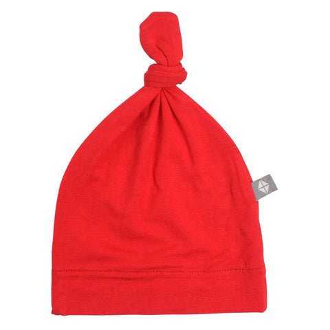 Crimson Knotted Cap