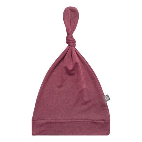 Plum Knotted Cap