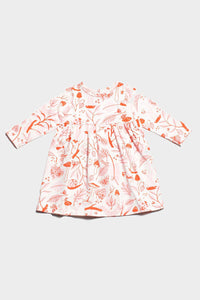 leaves & bugs Geneva dress, organic cotton, winter water factory