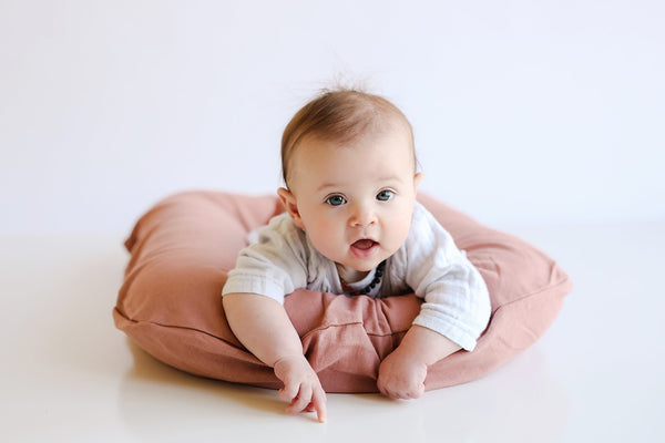 Organic Infant Lounger- Rosewood