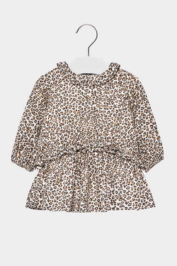 mayoral baby leopard print dress