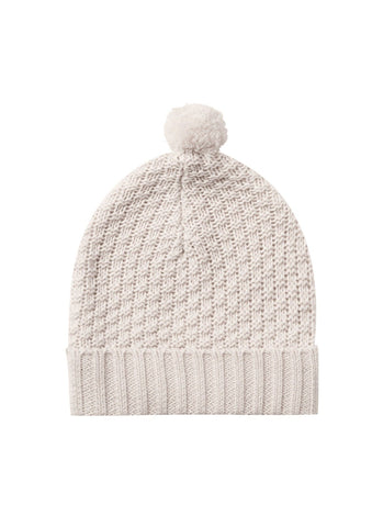 Pebble Knit Pom Pom Beanie