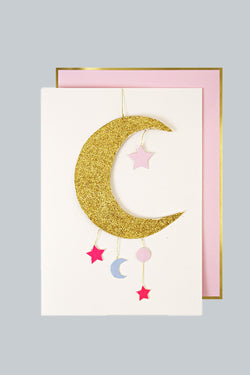 Baby Girl Mobile Card