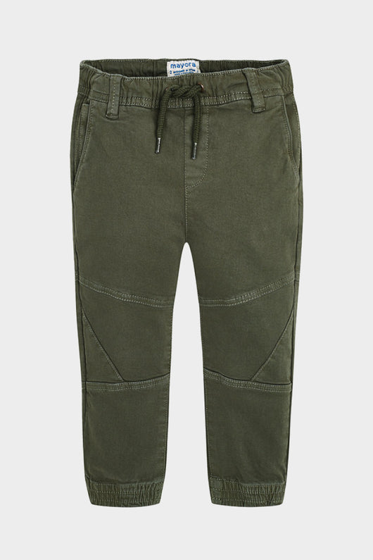 mayoral ivy green jogger twill trousers drawstring pants