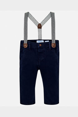 mayoral navy chinos with suspenders baby