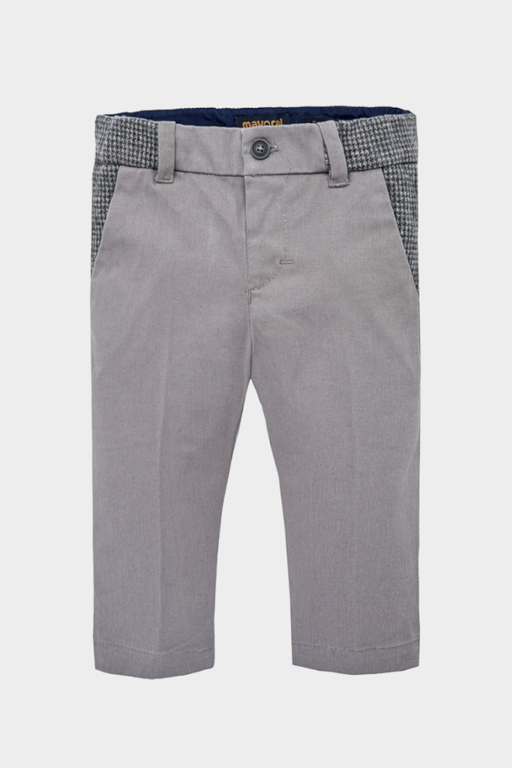 mayoral touch of tweed baby chinos twill castle