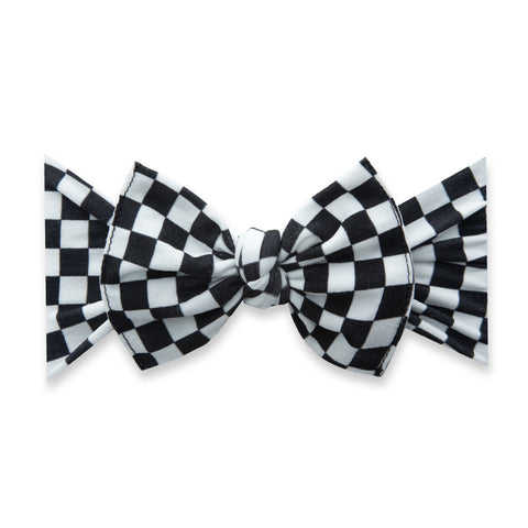 Printed Bow Stretch Headband