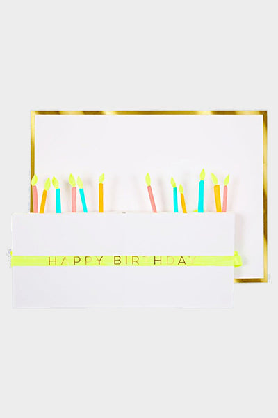 meri meri birthday cake honeycomb card