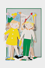 meri meri concertina children birthday card
