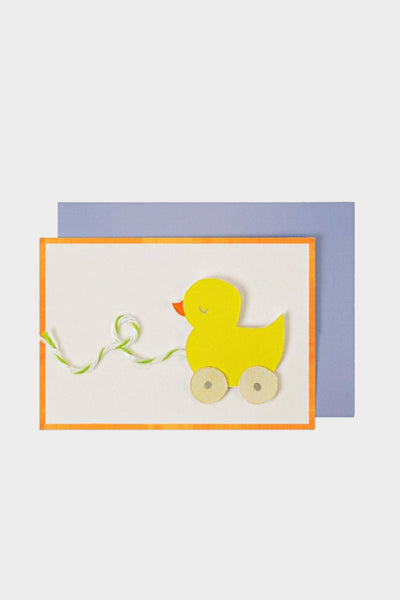 meri meri gift enclosure card duck