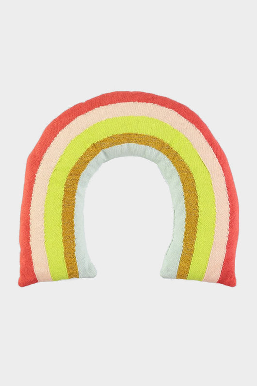 meri meri knitted rainbow cushion