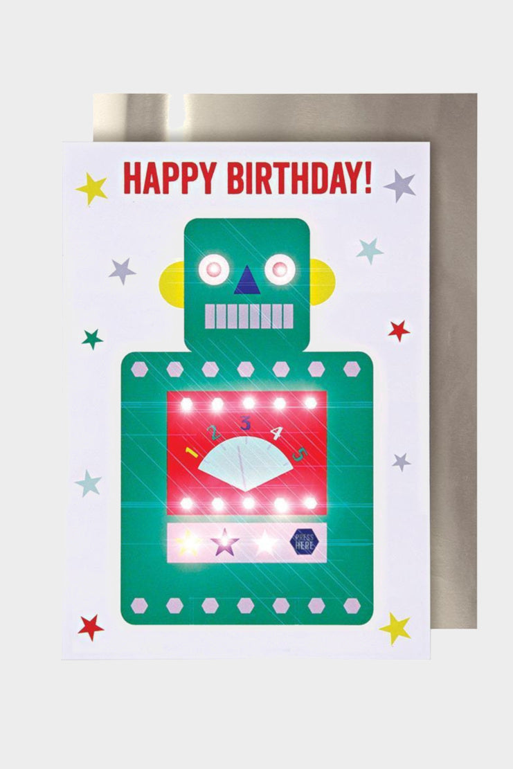 meri meri robot light-up card