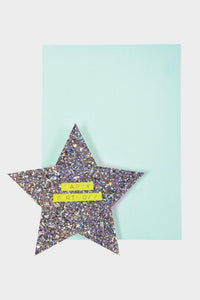 meri meri star and rainbow birthday card