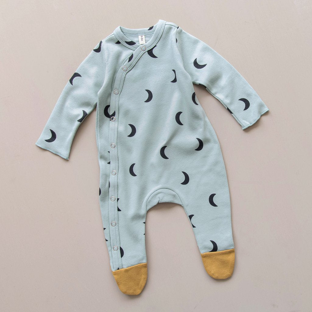 Moons Footed Romper