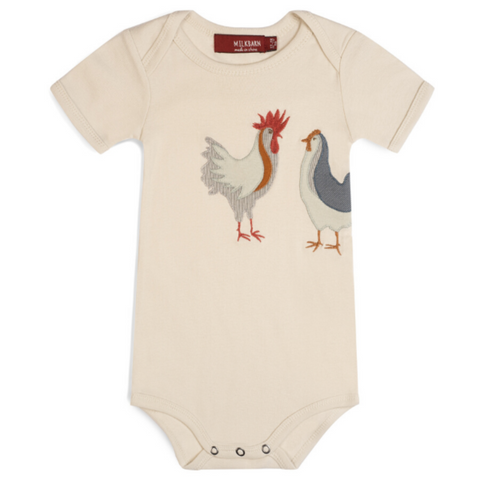 Chicken Applique S/S Onesie