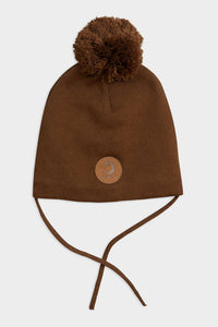 mini rodini penguin hat pompom brown