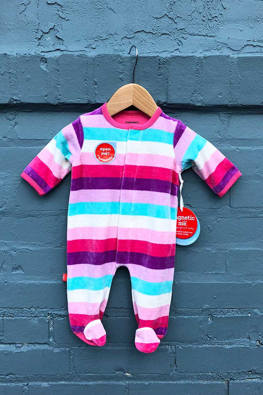 magnetic me shortcake velour romper